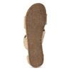 Dívčí sandály s perličkami bullboxer, béžová, 361-8609 - 18