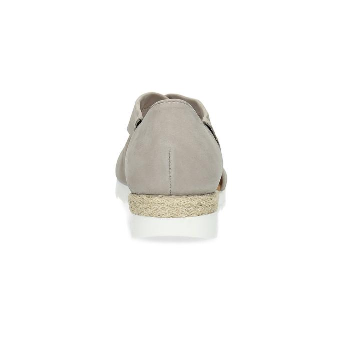Kožené sandály šíře G gabor, béžová, 666-8347 - 15