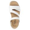 Kožené bílé sandály na suchý zip gabor, bílá, 666-1018 - 15