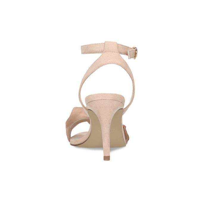 Růžové sandály na jehlovém podpatku s volánem insolia, růžová, 769-5619 - 15