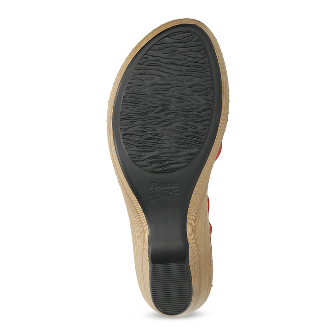 Sandály na stabilním podpatku s kytičkou comfit, červená, 661-5613 - 18