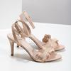 Růžové sandály na jehlovém podpatku s volánem insolia, růžová, 769-5619 - 16