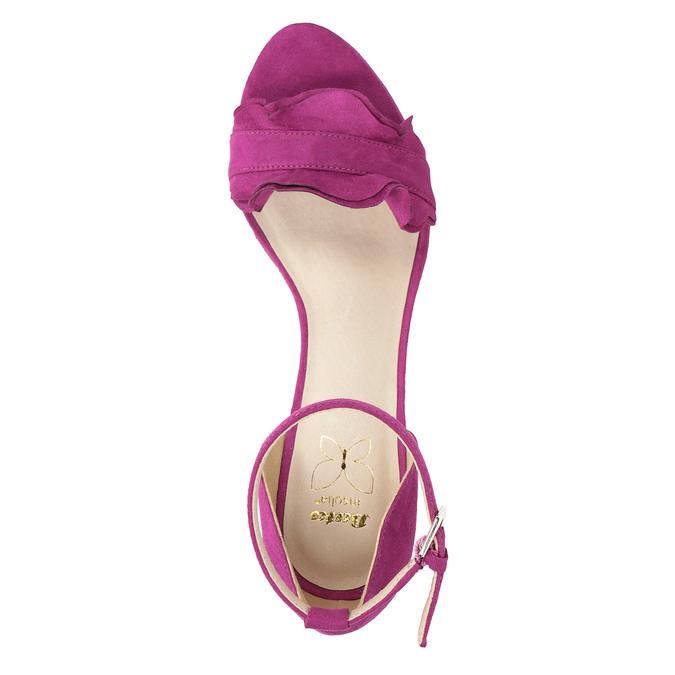 Sandály na klínku s volánem insolia, růžová, 769-5618 - 17