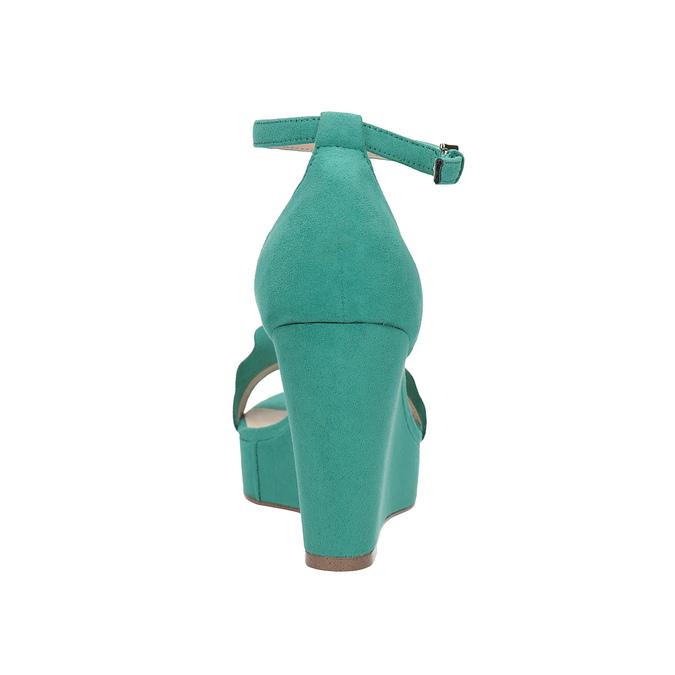 Tyrkysové sandály na klínku s volány insolia, tyrkysová, 769-9618 - 15