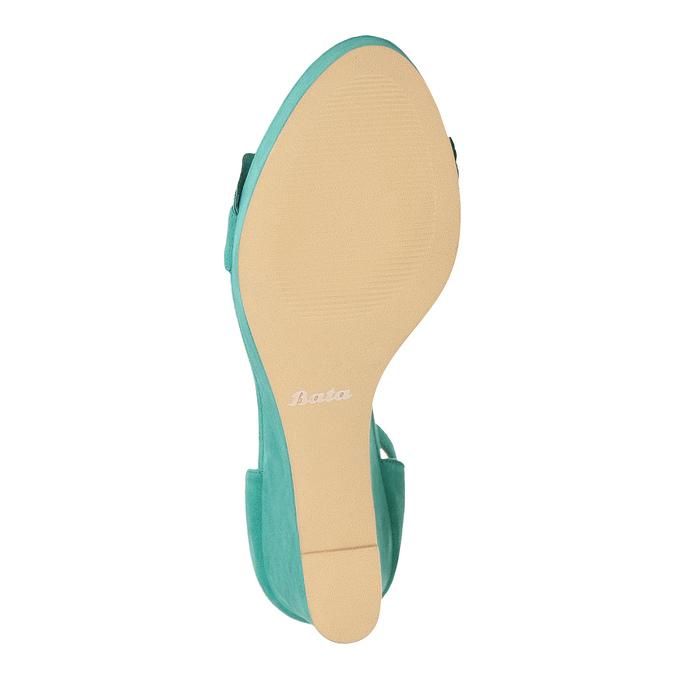 Tyrkysové sandály na klínku s volány insolia, tyrkysová, 769-9618 - 18