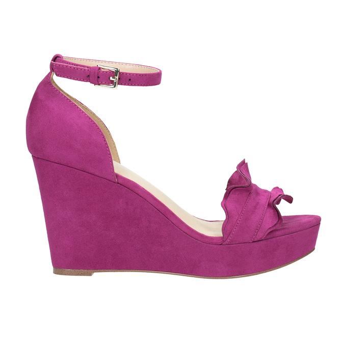Sandály na klínku s volánem insolia, růžová, 769-5618 - 19