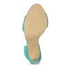 Dámské sandály s volánem tyrkysové insolia, tyrkysová, 769-9620 - 18