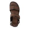 Pánské kožené hnědé Ombré sandály bata, hnědá, 866-4633 - 17