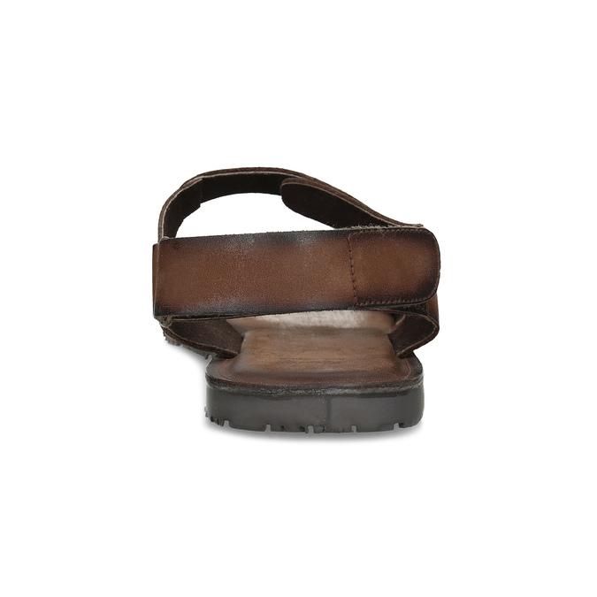 Pánské kožené hnědé Ombré sandály bata, hnědá, 866-4633 - 15
