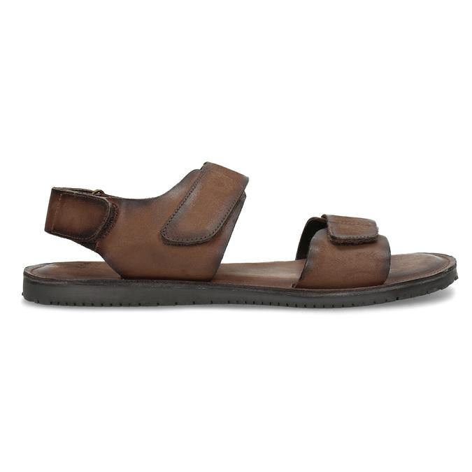 Pánské kožené sandály hnědé bata, hnědá, 866-4633 - 19