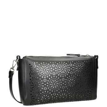 Černá Crossbody kabelka s perforací bata, černá, 961-6331 - 13