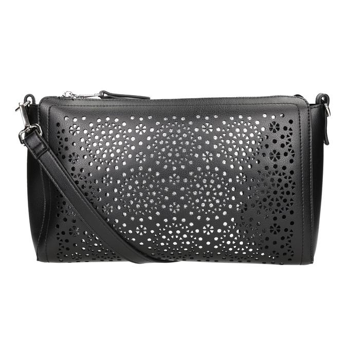 Černá Crossbody kabelka s perforací bata, černá, 961-6331 - 16