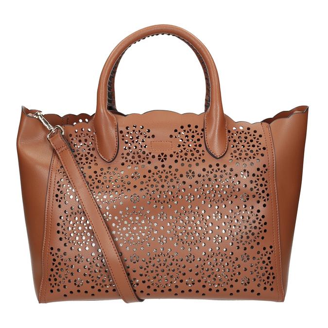 Hnědá dámská kabelka s perforací bata, hnědá, 961-3265 - 16