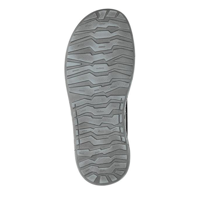 Pánské kožené žabky zdobené bata, šedá, 866-2845 - 19
