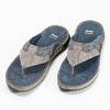 Prošívané kožené pánské žabky bata, šedá, 866-9845 - 16