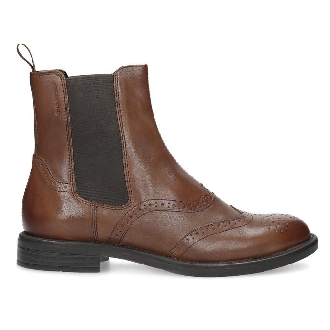 Dámská hnědá kožená Chelsea obuv vagabond, hnědá, 514-3002 - 19