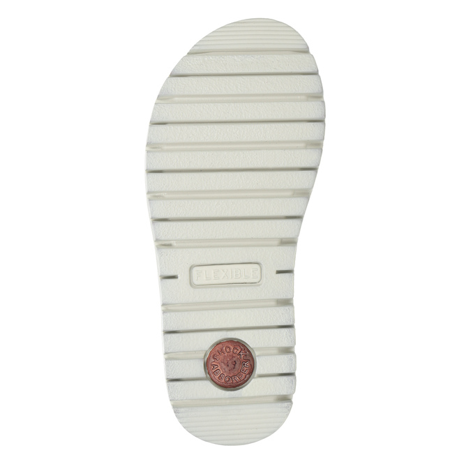 Dívčí kožené sandály s kamínky růžové mini-b, růžová, 463-5603 - 19