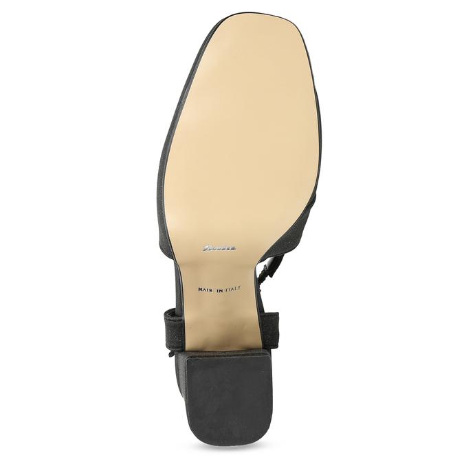 Černé dámské sandály na podpatky se třpytkami insolia, černá, 726-6653 - 18