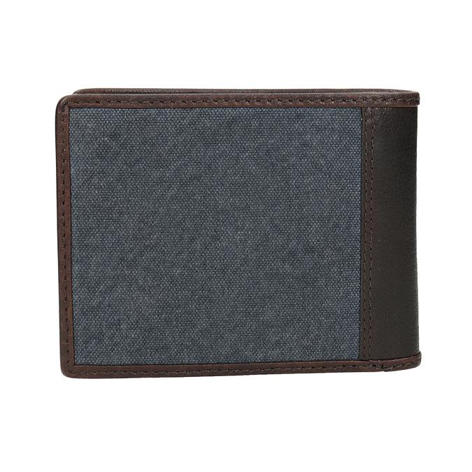 Pánská peněženka v kombinaci kůže a textilu bata, modrá, 949-9603 - 16