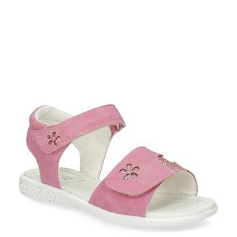Růžové dívčí sandály se třpytkami mini-b, růžová, 261-5144 - 13