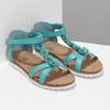 Tyrkysové dívčí sandály mini-b, tyrkysová, 361-9614 - 26