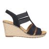 Tmavě modré kožené sandály na klínovém podpatku gabor, modrá, 763-9013 - 26