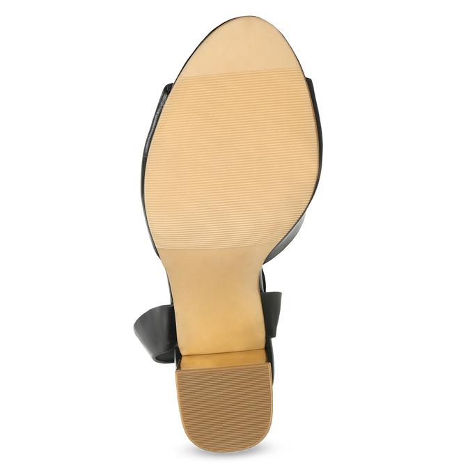Černé sandály na zlatém podpatku bata-red-label, černá, 761-6619 - 18
