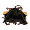 Žlutá shopper bag kabelka se cvočky bata, žlutá, 961-8296 - 15