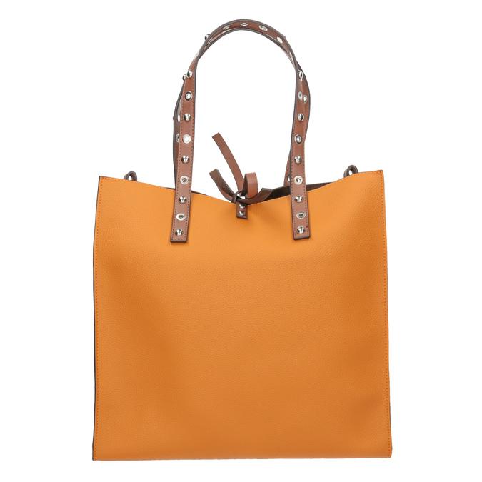 Oranžová shopper bag kabelka se cvočky bata, hnědá, 961-3296 - 26