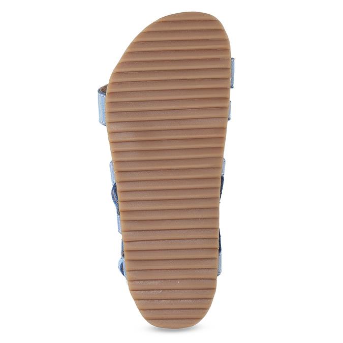 Dívčí sandály s holografickými pásky mini-b, modrá, 466-1609 - 18