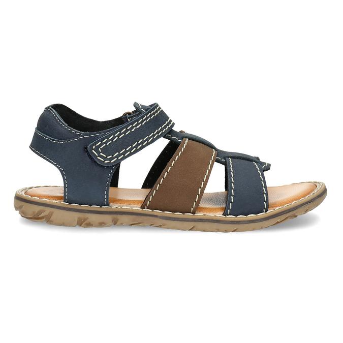 Chlapecké sandály z kůže mini-b, modrá, 366-9610 - 19