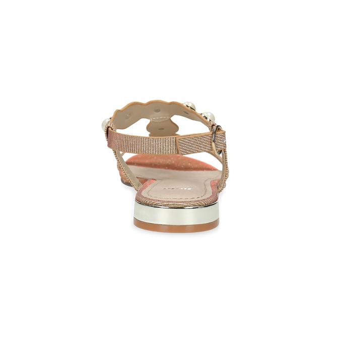 Zlaté sandály s perličkami bata, zlatá, 569-5606 - 15
