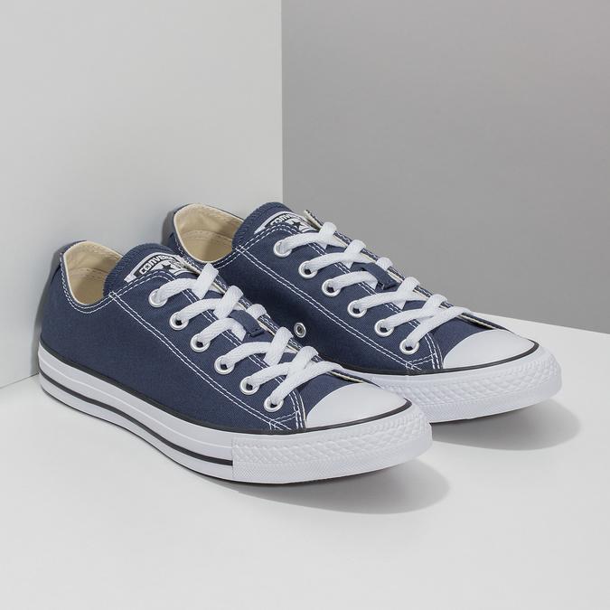 Dámské textilní tenisky s gumovou špičkou converse, modrá, 589-9279 - 26
