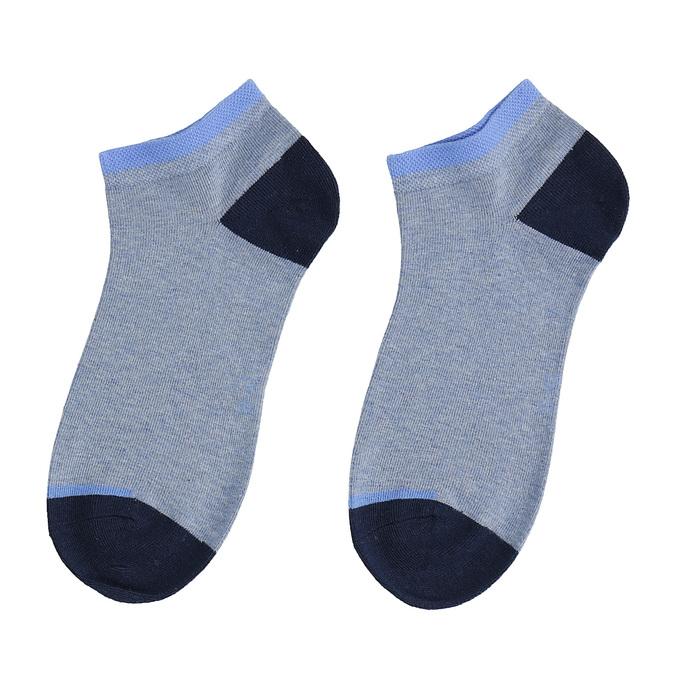 Světle modré kotníkové ponožky bata, modrá, 919-9804 - 26