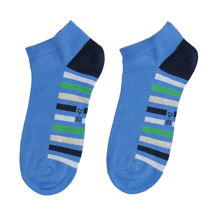 Kotníkové ponožky modré s pruhy bata, modrá, 919-9803 - 26