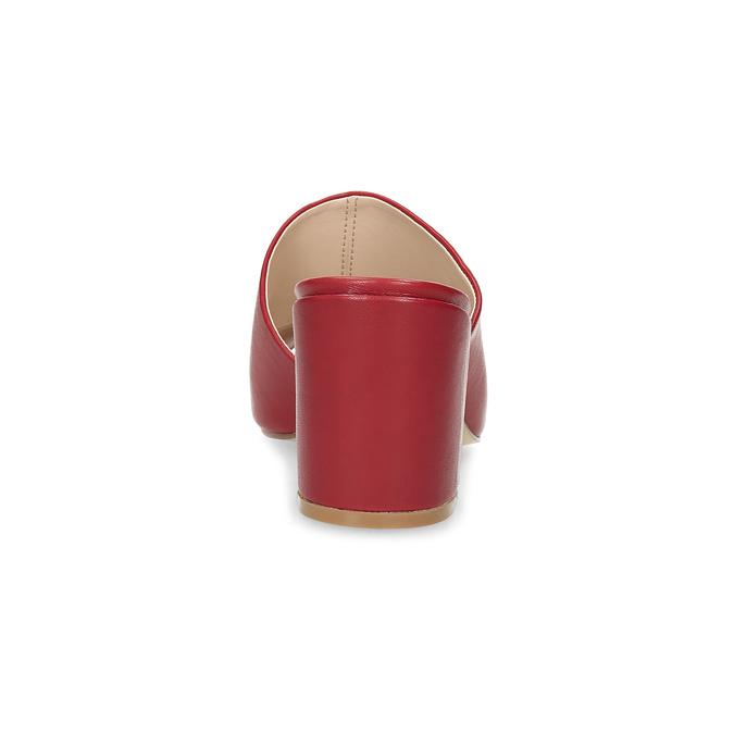Červené nazouváky na podpatku insolia, červená, 761-5620 - 15