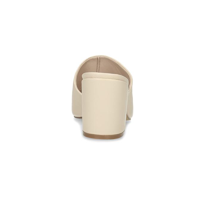 Světle béžové nazouváky na podpatku insolia, béžová, 761-8620 - 15