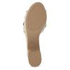 Dámské zlaté sandály na masivním podpatku bata-red-label, zlatá, 666-8621 - 18