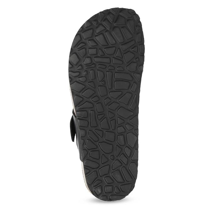 Kožené pánské žabky bata, černá, 866-6848 - 18