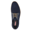 Pánské textilní polobotky modré bata-red-label, modrá, 829-9600 - 17