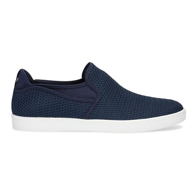 Modré pánské Slip-on boty z textilu bata-red-label, modrá, 839-9602 - 19