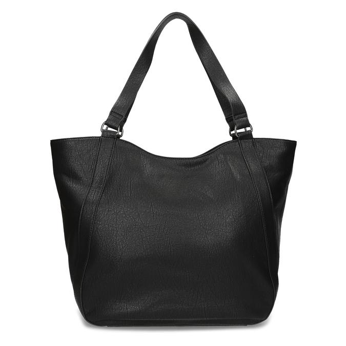 Černá dámská kabelka s prošitím bata, černá, 961-6787 - 16