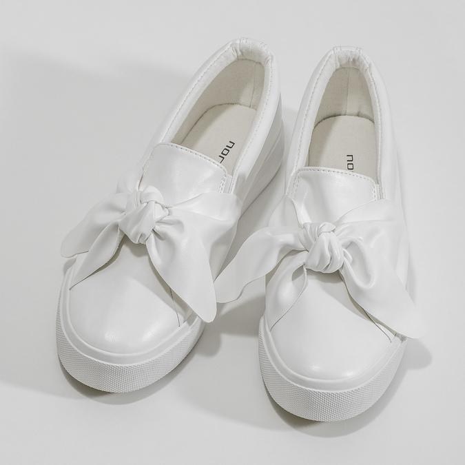 Dámská Slip-on obuv s mašlí north-star, bílá, 511-1606 - 16