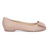 Kožené baleríny s výraznou mašlí hogl, růžová, 526-5051 - 19