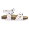 Dívčí sandály s korkovou podešví mini-b, bílá, 261-1212 - 19