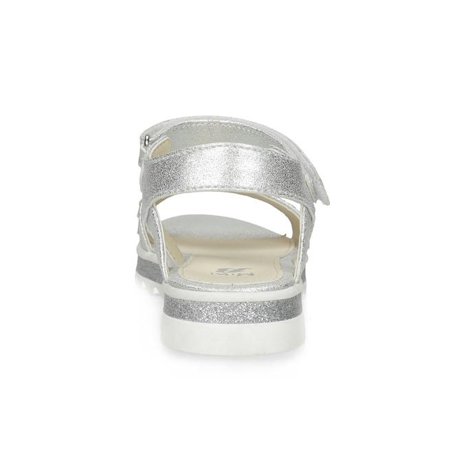Stříbrné dívčí sandály s hvězdičkami mini-b, stříbrná, 361-1172 - 15