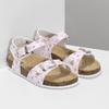 Dívčí sandály s korkovou podešví mini-b, bílá, 261-1212 - 26