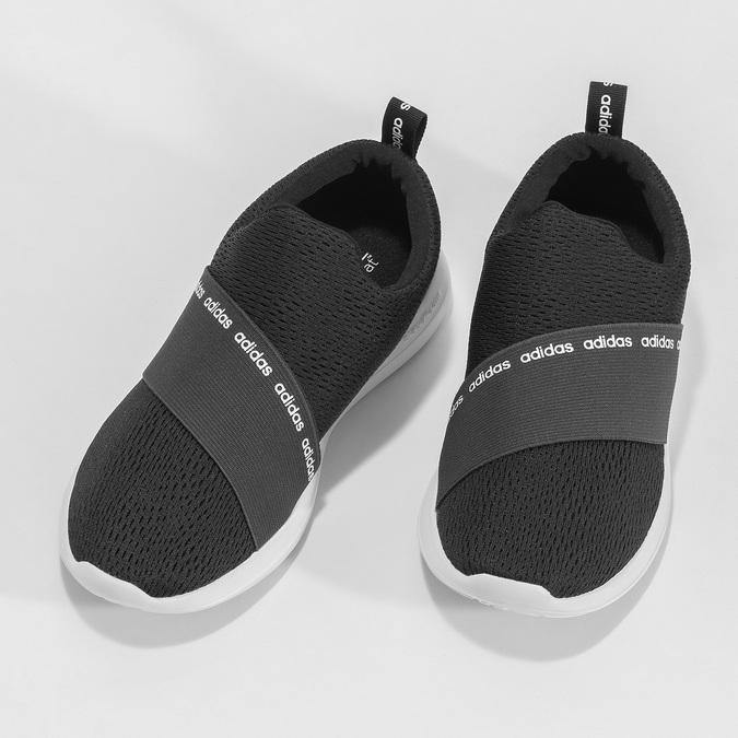 Černé nazouvací tenisky adidas, černá, 509-6565 - 16
