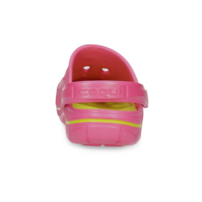 Růžové sandály typu Clogs coqui, růžová, 372-5656 - 15