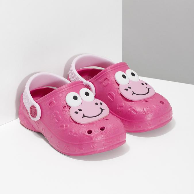Dívčí sandály se žabičkou růžové coqui, růžová, 272-5651 - 26